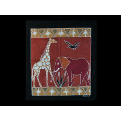 Závěsná textilie malá/587 - zvířata
