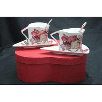Kávová souprava - porcelán/ atyp (růže)