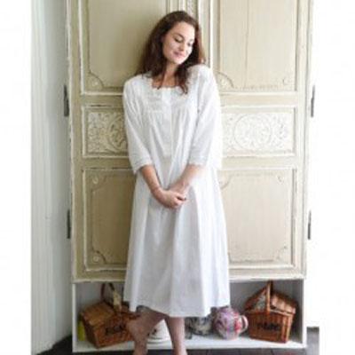 Noční košilka Eliza ze 100% indické bavlny/