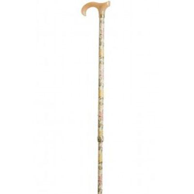 Vycházková hůl s nastavitelnou délkou /4098B - anglická růže