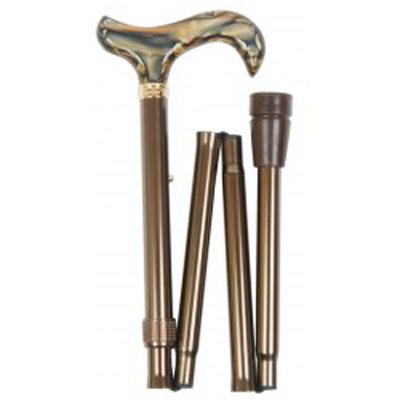 Hůl skládací brown marbled/4619B