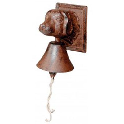 Zvonek litinový - psí hlava