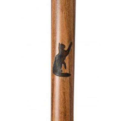 Vycházková hůl/1777 - Beech Derby - kočičí motiv