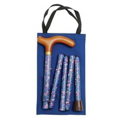 Skládací hůl/4800A - modrá s pouzdrem