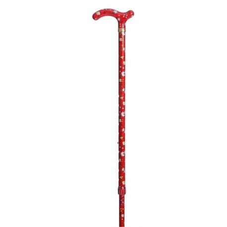 Hůl nastavitelná/4099E - Slimline červená