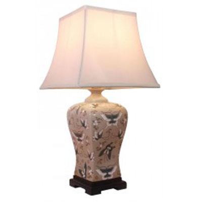 Keramická lampa v olivové barvě - 56 cm/Butterfly
