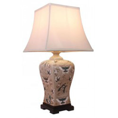 Keramická lampa v olivové barvě - 56 cm/10537