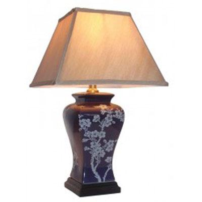Keramická lampa v temně červené barvě/9654