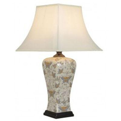 Stolní keramická lampa s motýlím vzorem/9409 - 53 cm
